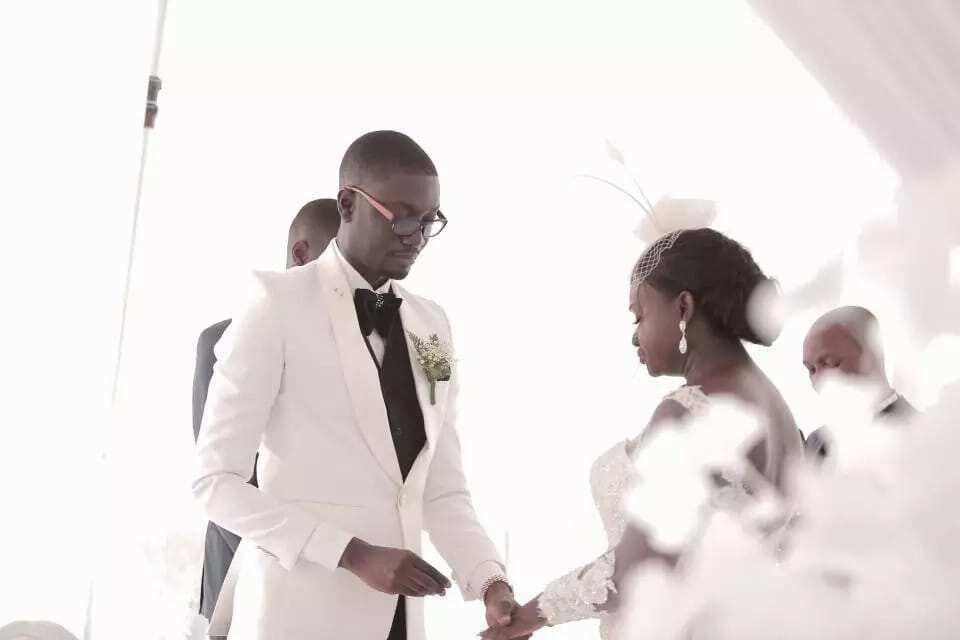 Photos of Ameyaw Debrah's white wedding