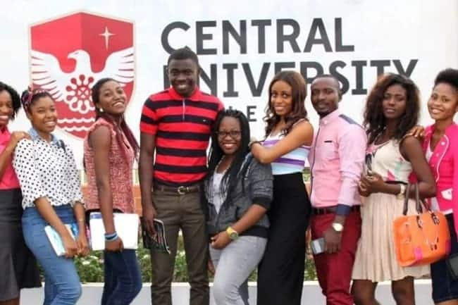 Central University College courses offered and their fees