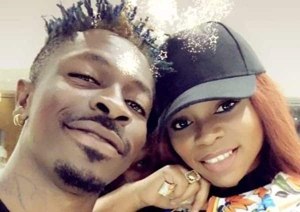 Shatta Wale angrily and Shatta Michy in happy times
