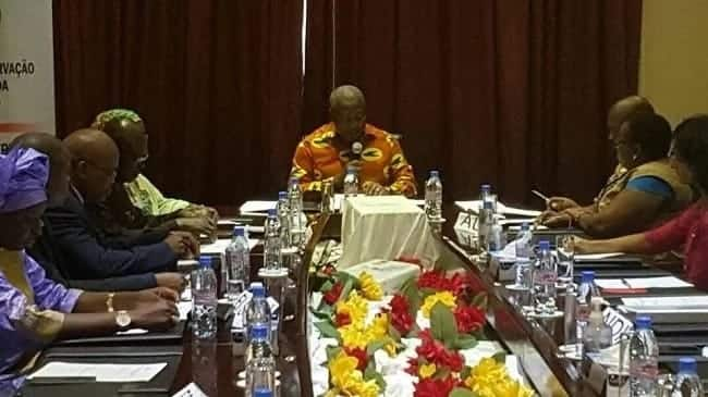 Photos show Mahama looking dapper in African print as he heads meeting of ECOWAS Observer Missions