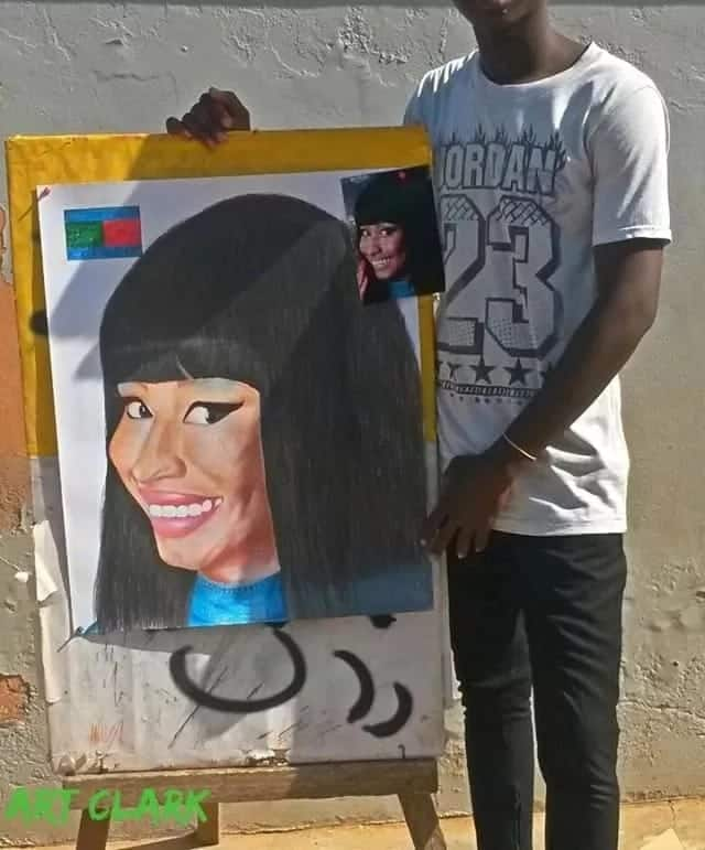 Meet Clark Amissah whose painting of Sarkodie, Shatta Wale and Stonebwoy has mesmerised us