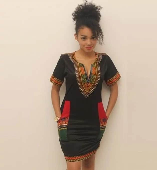 Dashiki short African dress