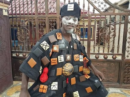 Lil Win storms Asantehemaa's funeral like a powerful 'juju' man