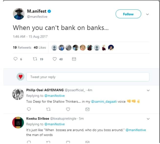 M.anifest mocks UT and Capital Banks with cryptic post