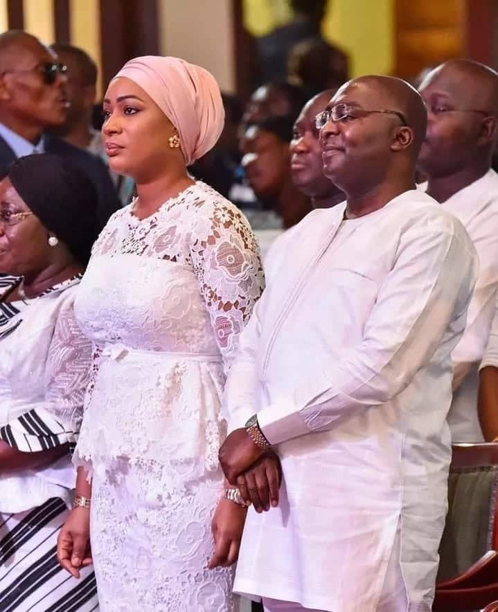 Dr. Bawumia and his wife standing