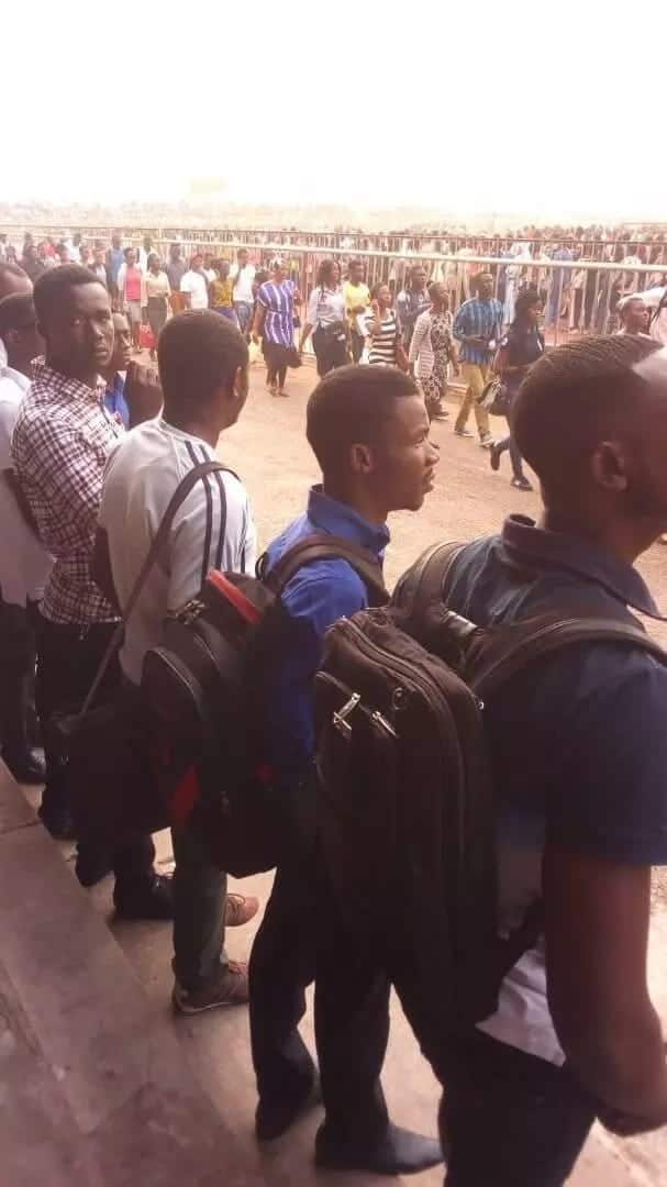 Thousands of Ghana youth flood El-Wak Sports Stadium for a chance to enter into the Immigration Service
