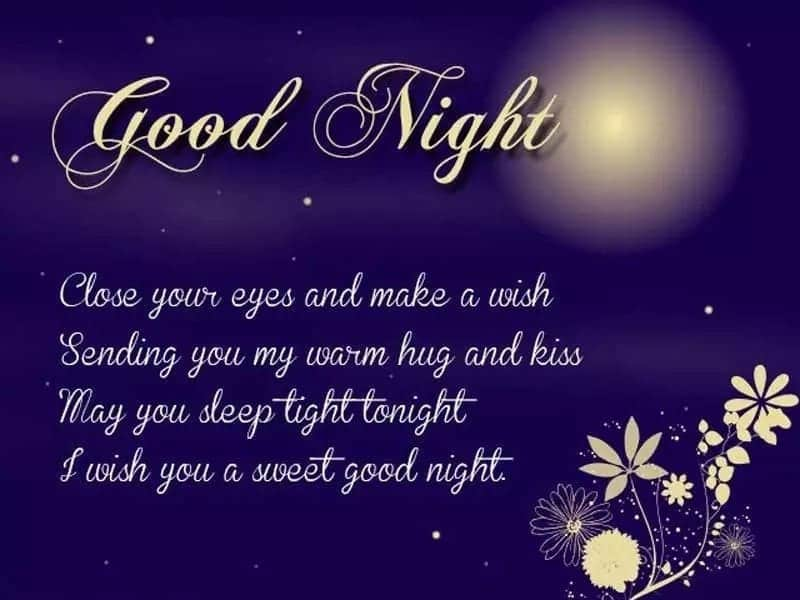 Good night love message for my wife