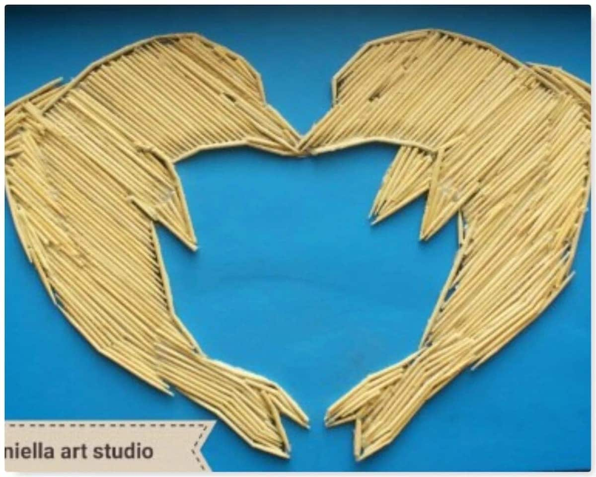 Here is the 10-year old artist who creates her work with matchsticks and toothpicks