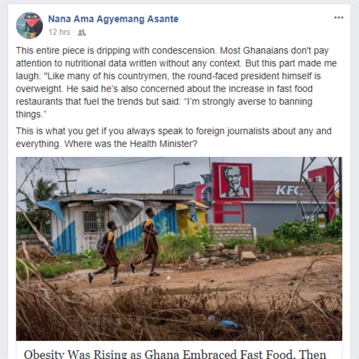 Social media users in Ghana react to 'unsatisfactory' description of the president by New York Times