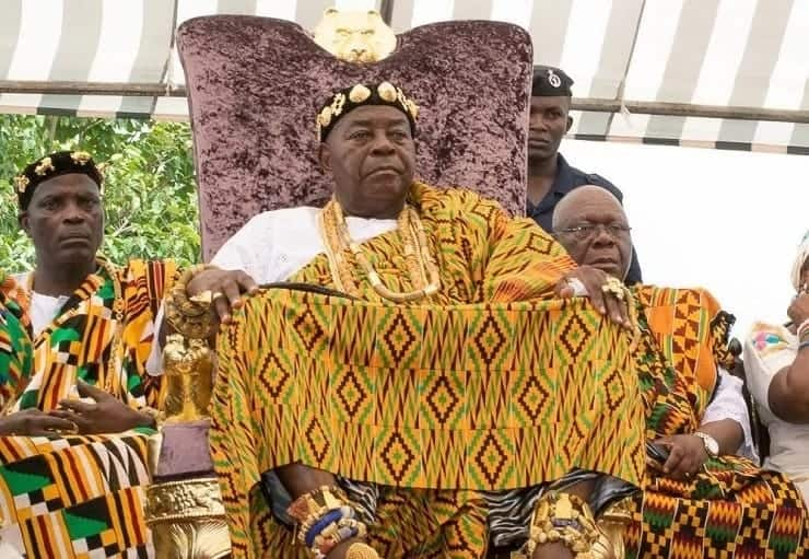 An Ewe traditional leader on this throne