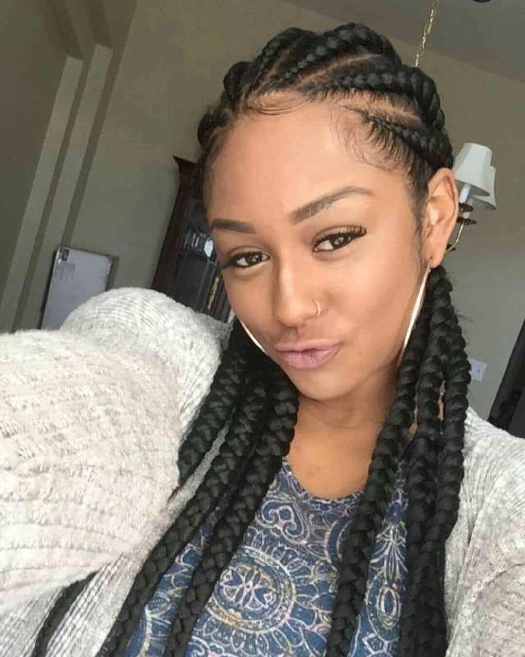 Trendy Nigerian Cornrow Hairstyles For 2018 Yen Com Gh