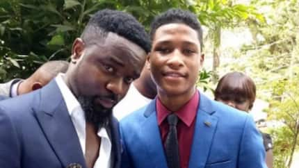 Movie star Raheem Banda made new Free SHS ambassador; dazzles in amazing photos with his pretty sister during the event