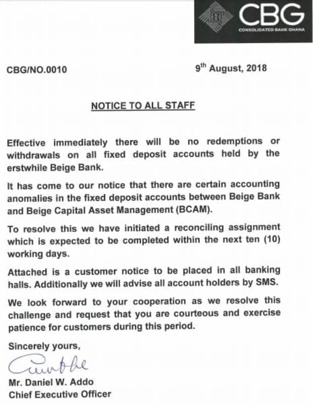 Consolidated Bank blocks withdrawals from defunct Beige Bank accounts