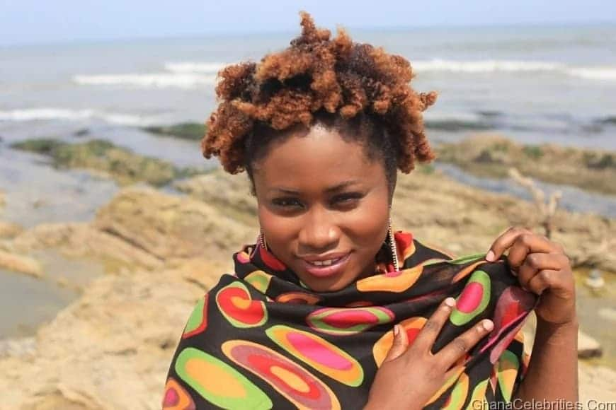 Lydia Forson at the beach
