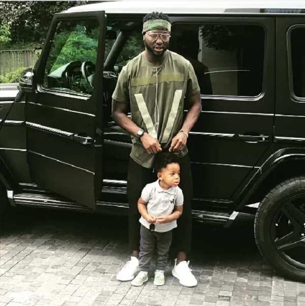 Sulley Muntari and baby Jamal
