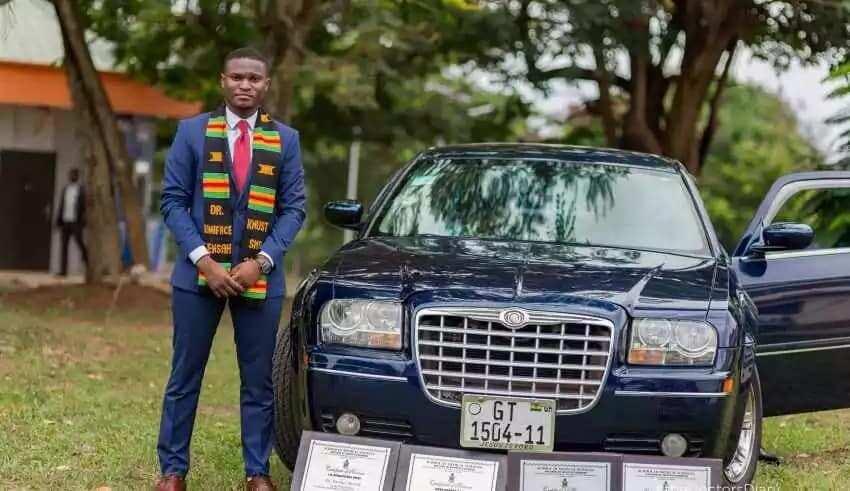 Boniface Mensah: The winner of KNUST's best medical student award in 2017