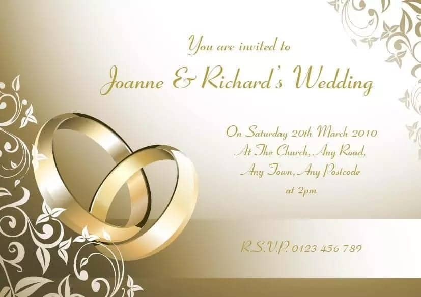 wedding invitation messages for family yen com gh