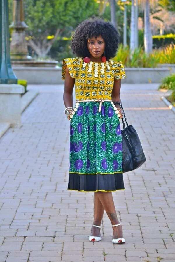 styles of dresses with ankara