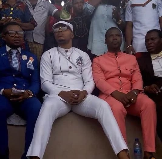 "Bishop Obinim flanked by his ""wise"" men"