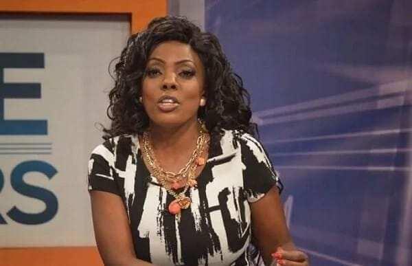 Nana Aba Anamoah shows her love for Sarkodie as she hosts a radio programme