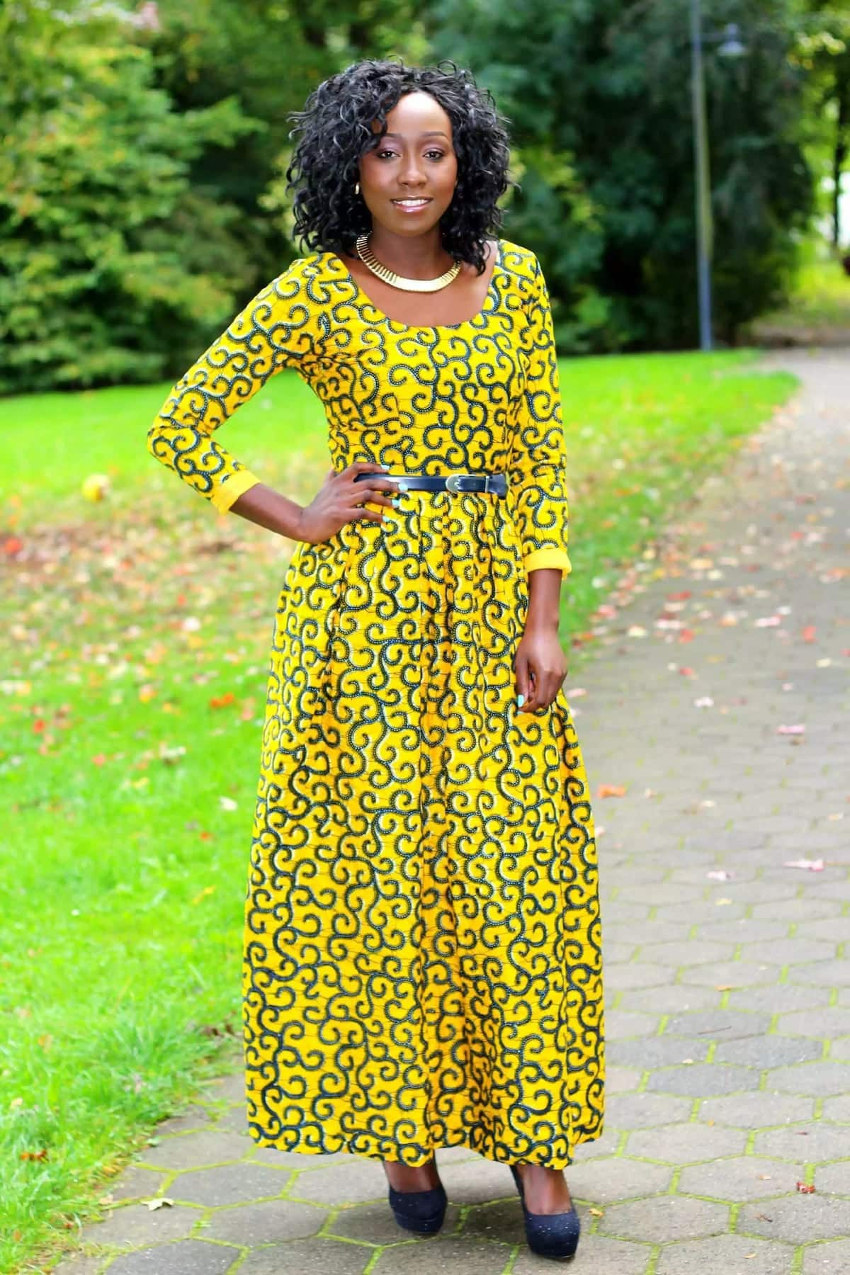African Print Long Dress Styles Yen Com Gh