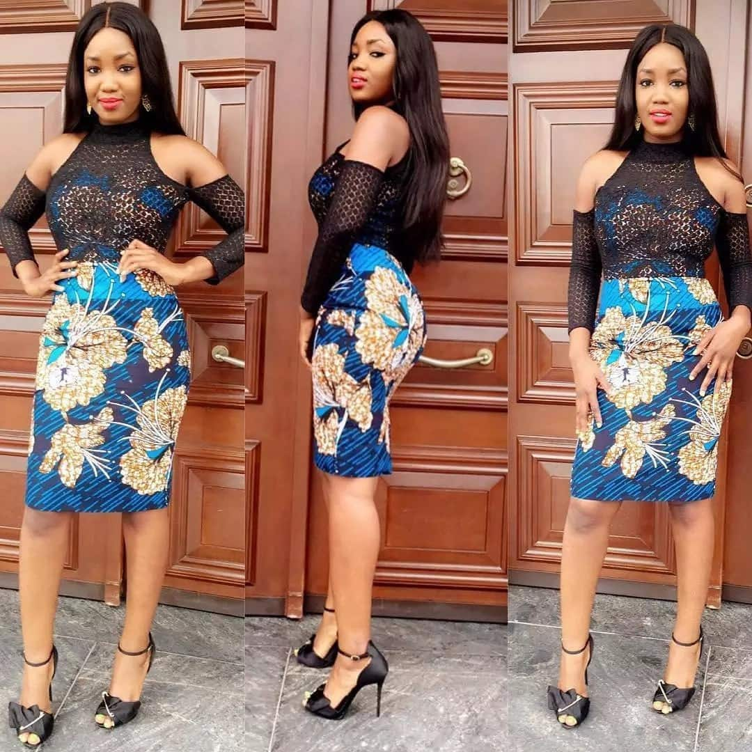 trendy ankara and lace styles short ankara lace styles ankara lace blouse styles