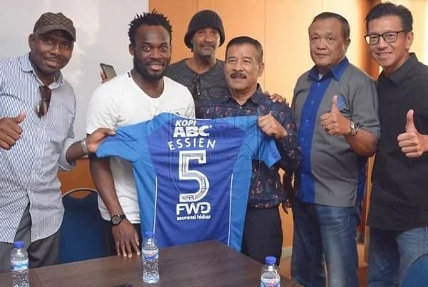 Michael Essien Caught without a work permit in Indonesia