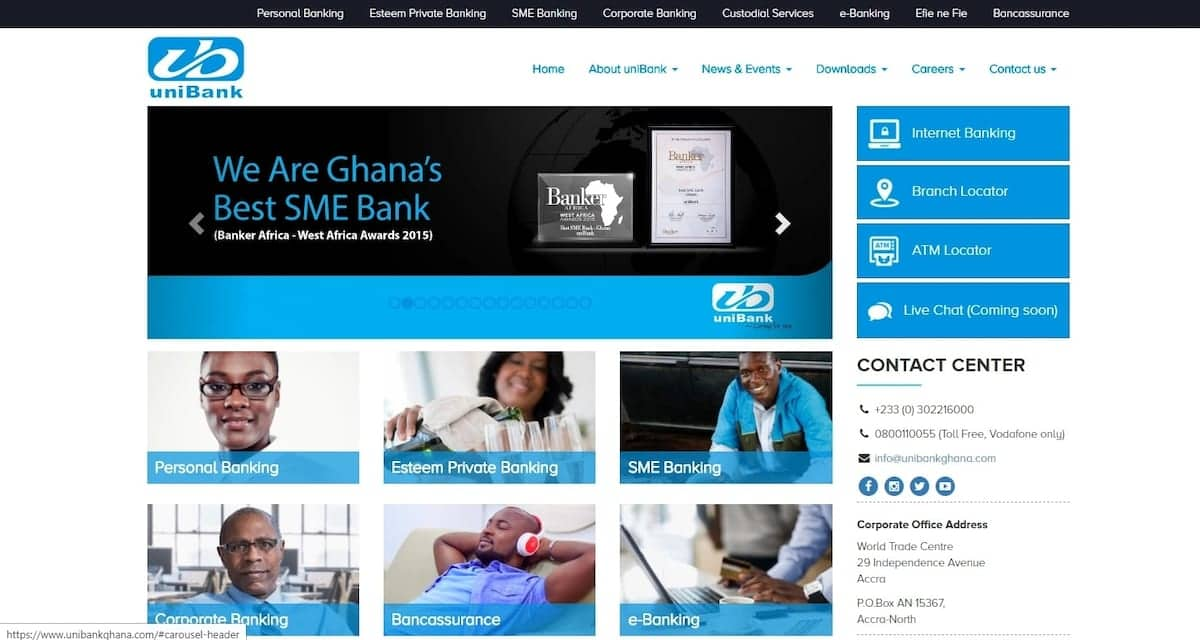 List of Unibank branches in Ghana