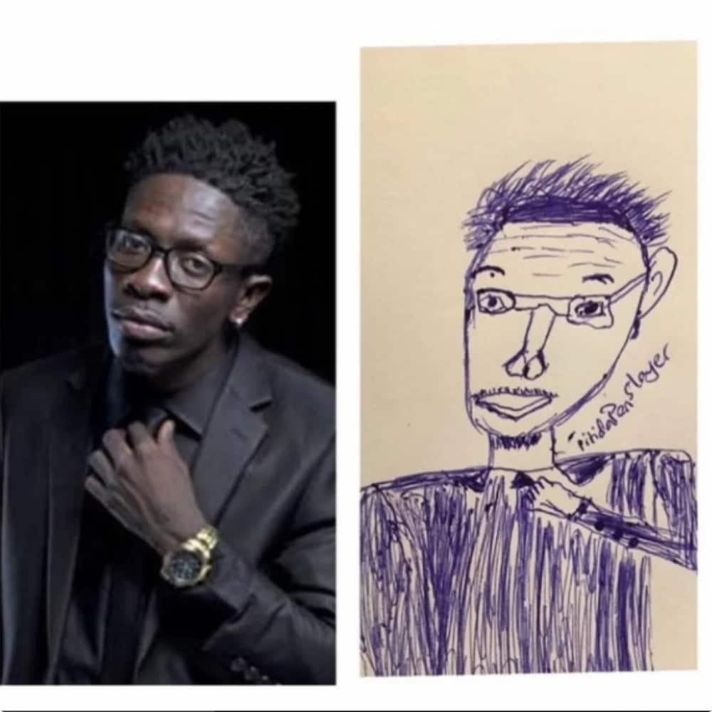 Pen artist draws hilarious pictures of celebrities on paper