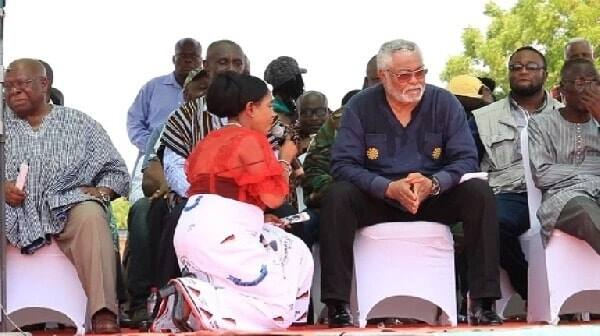 Anita Desosoo kneels, begs Rawlings to forgive NDC
