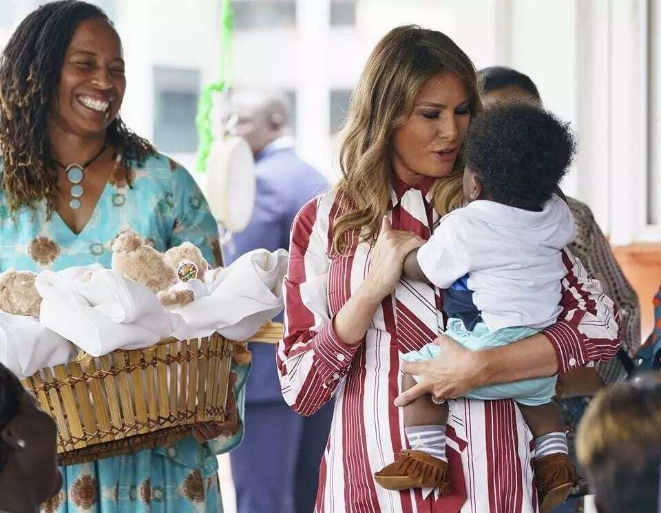 Melania love for babies