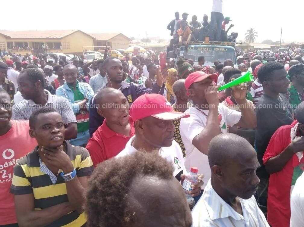 Mahama leads NDC unity walk in Techiman
