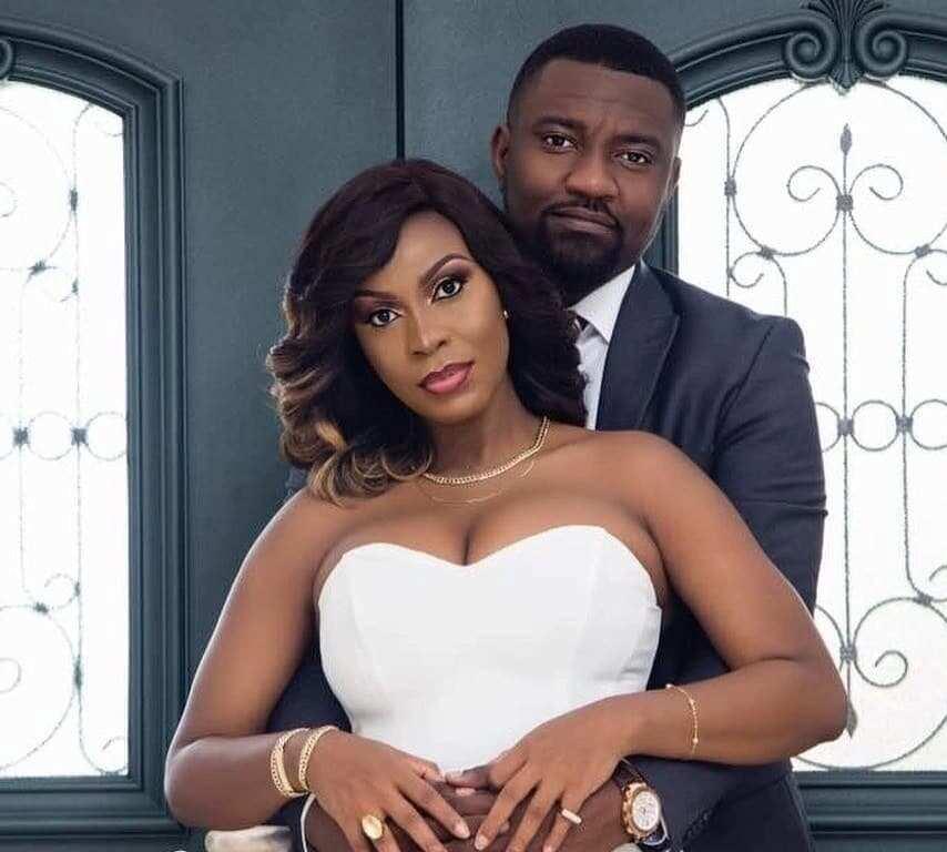 John Dumelo and his wife, Gifty Mawunya
