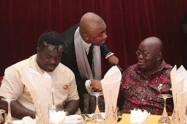 Nana Addo with MUSIGA boss and colleague