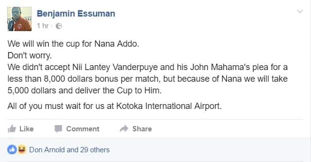 Some NDC supporters are happy with Black Stars' defeat