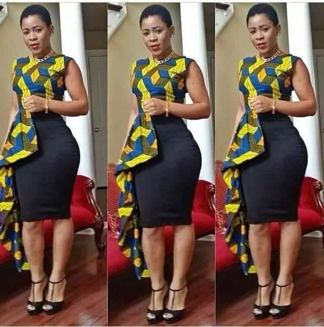 Latest African print crop tops in 2018