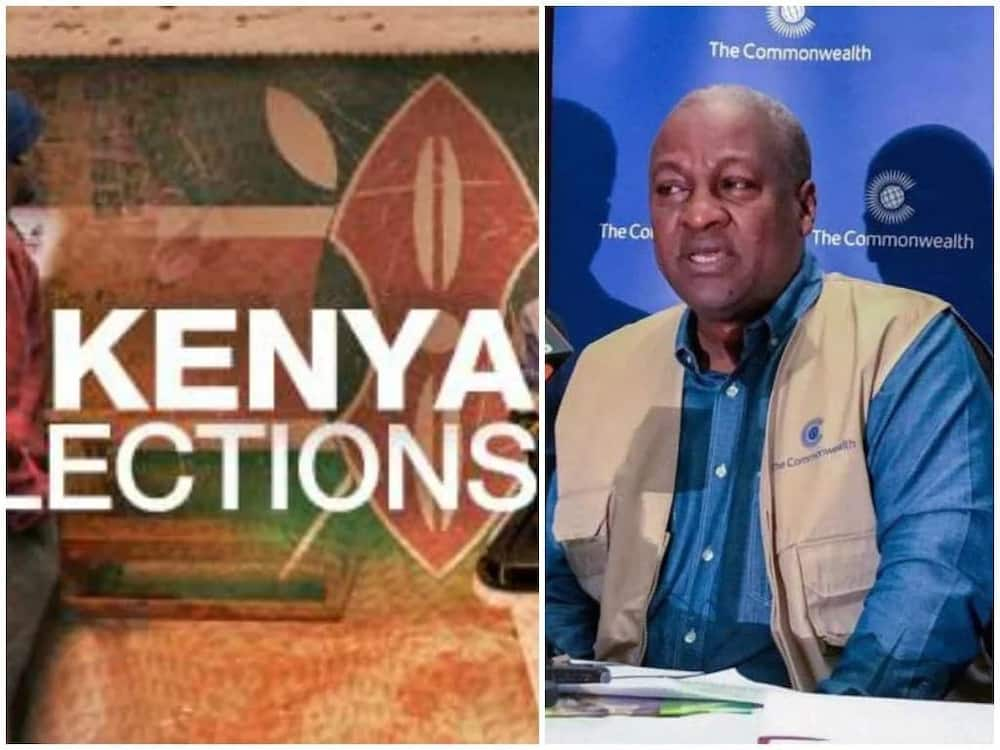 Mahama's position as election observer in Kenya questioned
