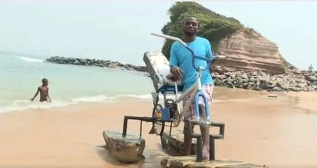 The young Ghanaian inventor who built the water bicycle gets national recognition and award
