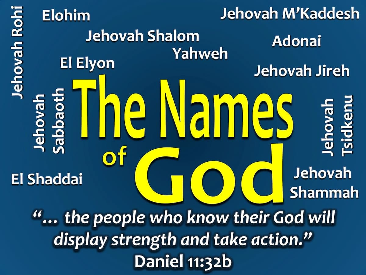 Names Of God: Names Of God And Their Meaning YEN.COM.GH