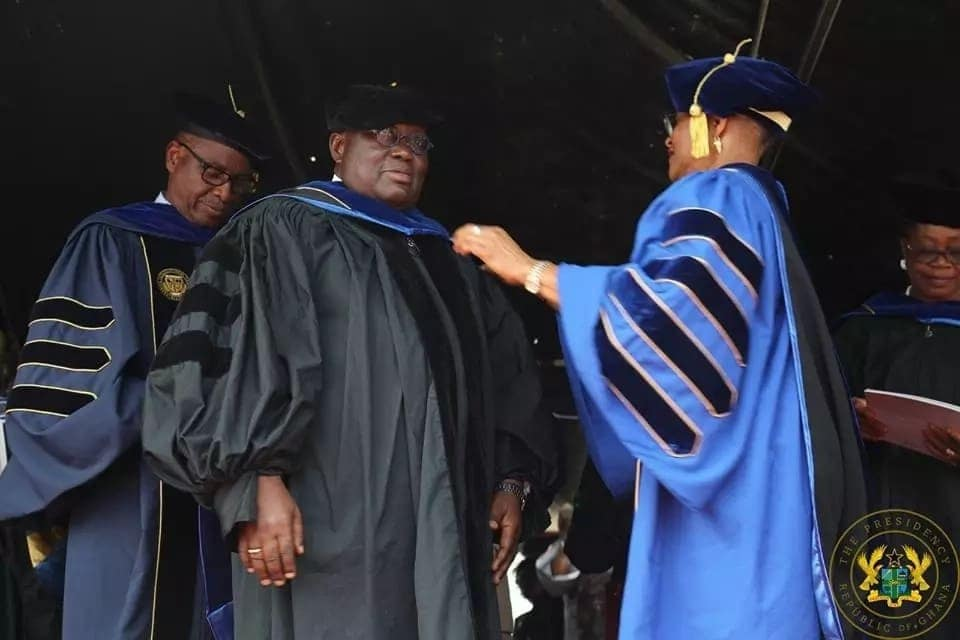 Akufo-Addo receives another Honorary Doctorate Degree from another African University in colorful event