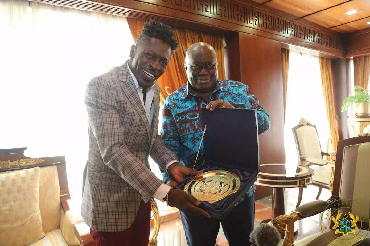 Nana Addo finally meets Shatta Wale at Flagstaff House