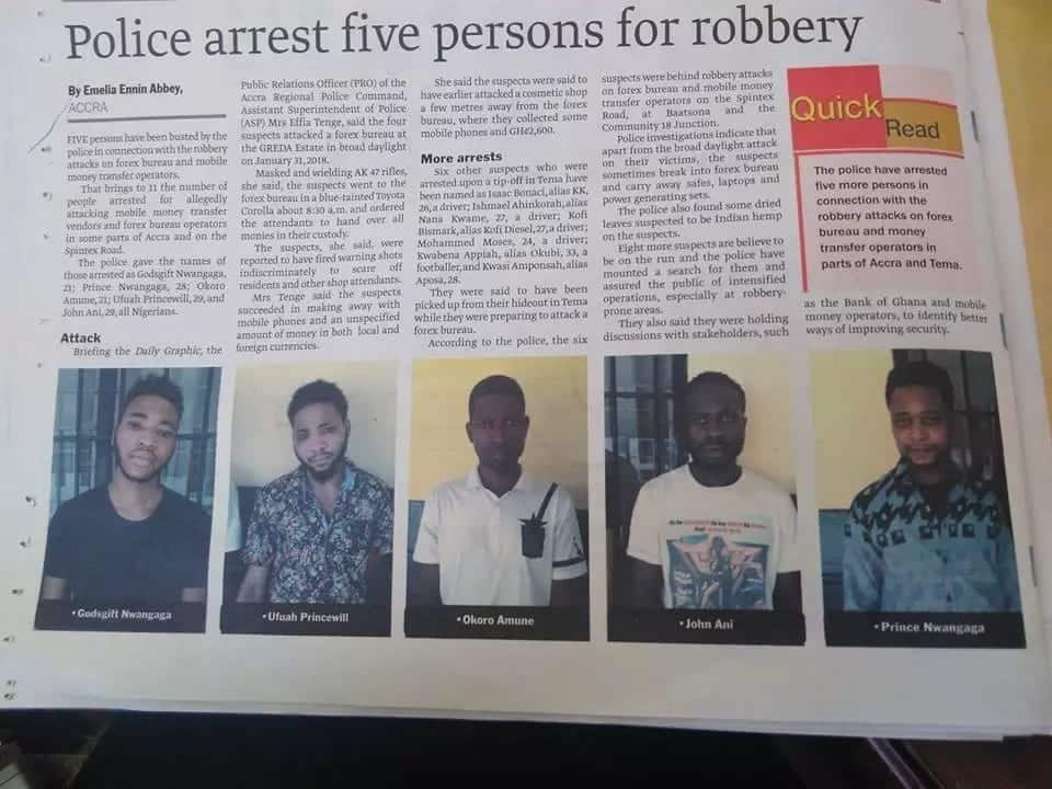 Most armed robbers in Ghana from Nigeria, ECOWAS?
