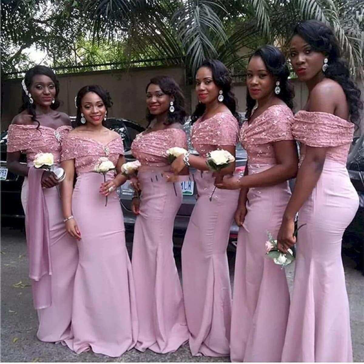 African bridesmaid dress styles in Ghana