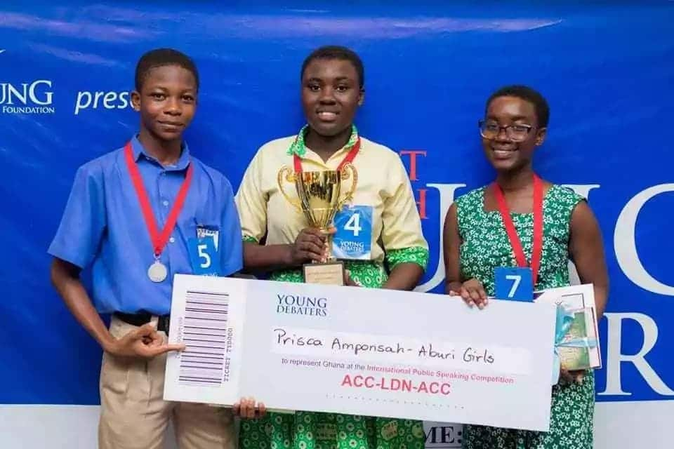 Aburi Girls SHS wins 8th Young Debaters competition
