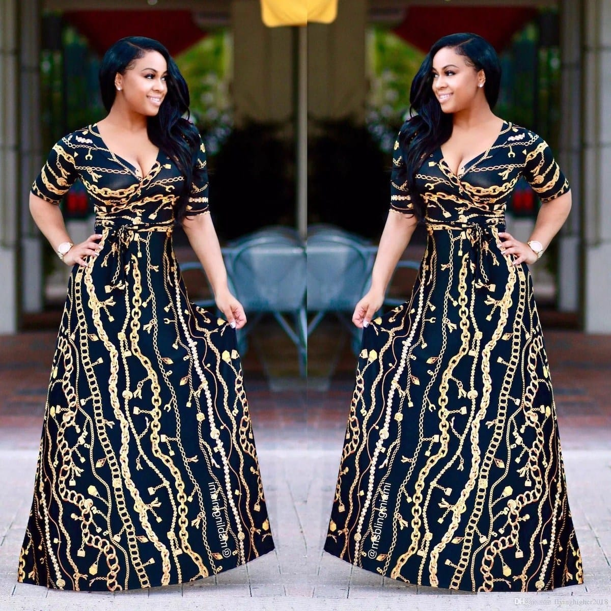 African print long dress styles, latest long african dresses, african print dress styles