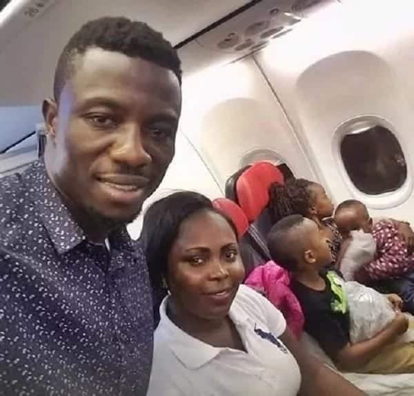 Kwaku Manu has released a new photo of his adorable kids
