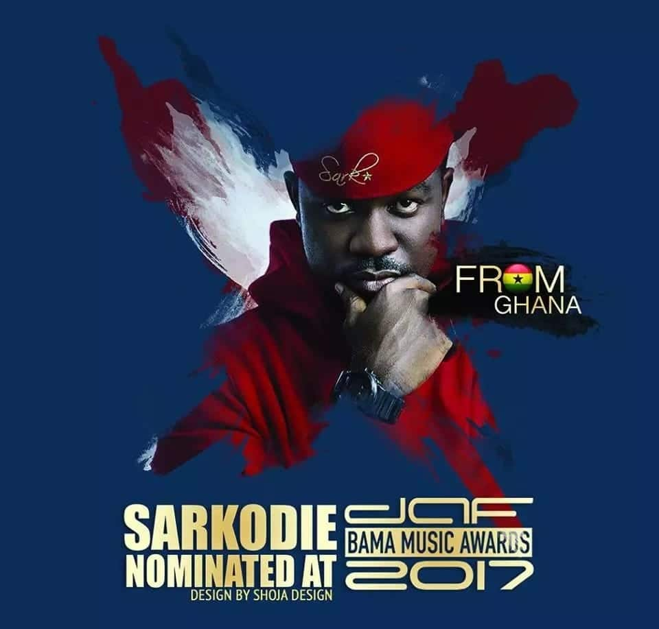 Sarkodie beats Stonebwoy, Wizkid to win 'Best African Artiste' at daf BAMA Awards in Germany
