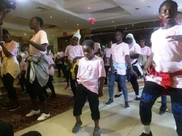 Akosua Adjepong leads epic flash mob to raise awareness about breast cancer