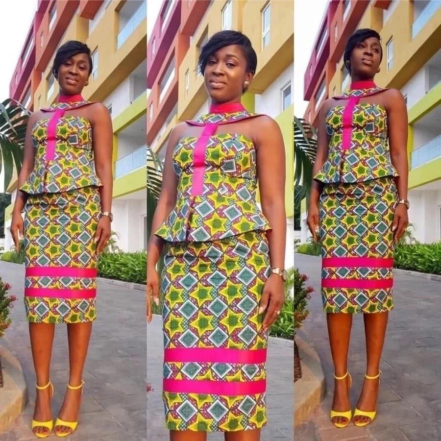 Peplum Six Pieces Ankara Designs For Skirt And Blouse