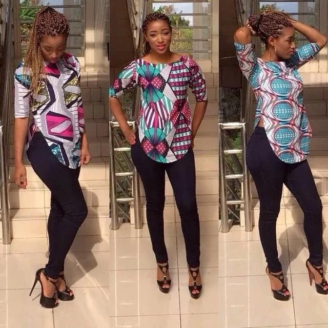 african print shirt for ladies